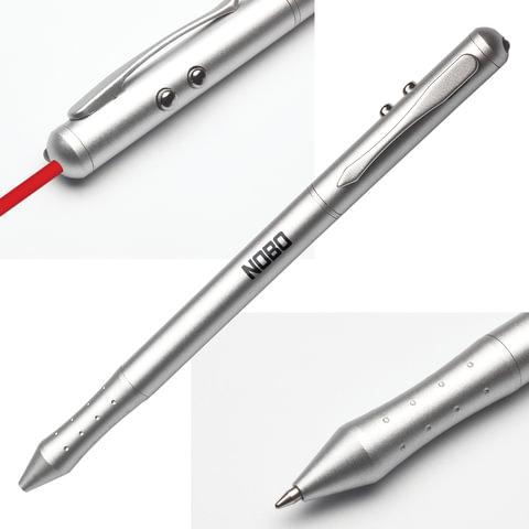 """Указка лазерная NOBO (США) """"4 в 1"""" (указка, стилус, ручка, фонарик)"""