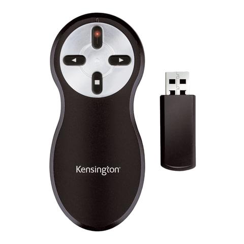 Указка лазерная-презентер KENSINGTON беспроводная, красный луч, 33374EU (ACCO Brands, США)