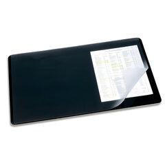 Коврик-подкладка настольный для письма DURABLE (Германия), c прозрачным листом, 40×53 см, черный