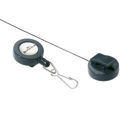 Держатели-рулетки для бейджей DURABLE (Германия), комплект 10 шт., с карабином, темно-серые