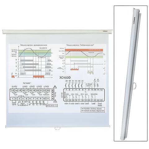 Экран проекционный LUMIEN ECO PICTURE, матовый, настенный, 150×150 см, 1:1