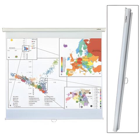 Экран проекционный LUMIEN ECO PICTURE, матовый, настенный, 180х180 см, 1:1