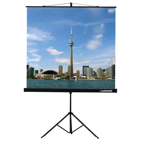 Экран проекционный LUMIEN ECO VIEW, матовый, на треноге, 150х150 см, 1:1