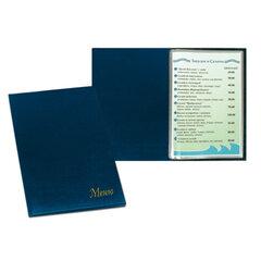 Папка «Меню» с 10 файлами, 220×320 мм, синяя, «ДПС»