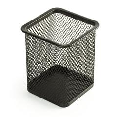 Подставка-органайзер BRAUBERG «Germanium», металлическая, квадратное основание, 98×80×80 мм, черная