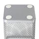 Подставка-органайзер BRAUBERG «Germanium», металлическая, квадратное основание, 98×80×80 мм, серебристая