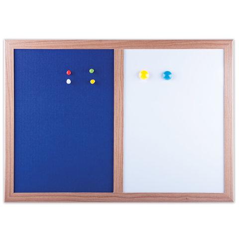 Доска магнитно-маркерная BRAUBERG (БРАУБЕРГ), с текстильным покрытием, для объявлений А3, 342×484 мм, синяя/<wbr/>белая, ГАРАНТИЯ 10 ЛЕТ