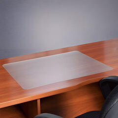 Коврик-подкладка настольный для письма, износостойкий, FLOORTEX, 48×61 см, толщина 0,9 мм, прозрачный