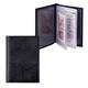 Бумажник водителя BEFLER «Ящерица», натуральная кожа, тиснение, 6 пластиковых карманов, черный