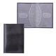Обложка для паспорта BEFLER «Ящерица», натуральная кожа, тиснение, черная