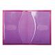Обложка для паспорта BEFLER «Изящная кошка», натуральная кожа, тиснение, фиолетовая