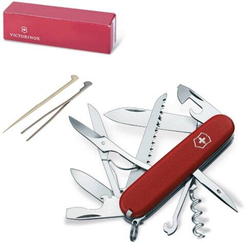 Подарочный нож VICTORINOX «Ecoline», 91 мм, складной, матовый красный, 15 функций