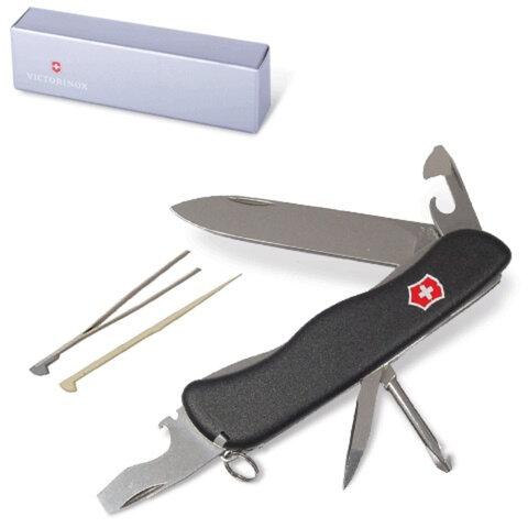 """Подарочный нож VICTORINOX """"Centurion"""", 111 мм, складной, с фиксацией лезвия, черный, 11 функций"""