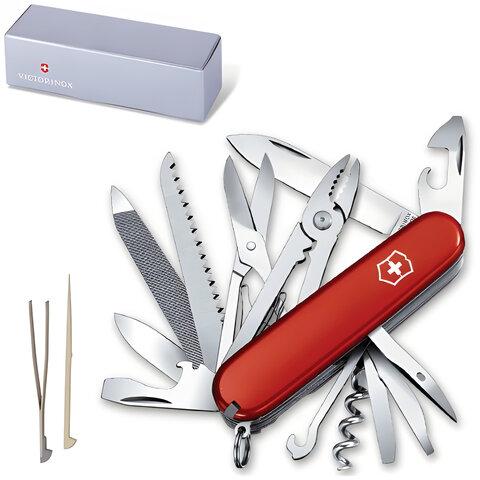 Подарочный нож VICTORINOX «Handyman», 91 мм, складной, красный, 24 функции
