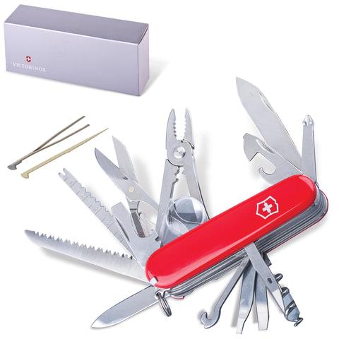 """Подарочный нож VICTORINOX """"Swisschamp"""", 91 мм, складной, красный, 33 функции"""
