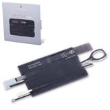 Подарочный набор «Швейцарская Карта» VICTORINOX «Swiss Card Onyx», полупрозрачная, черная, 11 функ.