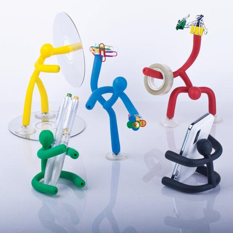 Подставка-держатель «Человек» универсальная (настольная, настенная), на присосках+магнит, пластик