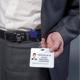 Держатели-рулетки универсальные BRAUBERG (БРАУБЕРГ), комплект 5 шт., 70 см, петелька, клип, кольцо, синие