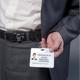 Держатели-рулетки универсальные BRAUBERG (БРАУБЕРГ), комплект 5 шт., 70 см, петелька, клип, кольцо, черные