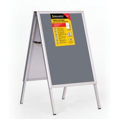 Рамка-штендер для рекламы и объявлений BRAUBERG, напольная, А1, 594×841 мм, двухсторонняя, складная