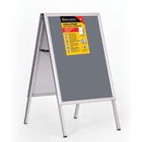 Рамка-штендер для рекламы и объявлений BRAUBERG (БРАУБЕРГ), напольная, А1, 594×841 мм, двухсторонняя, складная