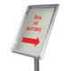 Рамка для рекламы и объявлений BRAUBERG (БРАУБЕРГ), на стойке, А3, 297×420 мм, алюм. профиль 32 мм