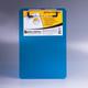 Доска-планшет BRAUBERG «Energy» (БРАУБЕРГ «Энерджи»), с верхним прижимом, А5, 15,5×22,8 см, пластик, 2 мм, синяя