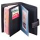 Обложка для документов (авто, паспорт, портмоне) NERI KARRA, натуральная кожа, 6 пластиковых карманов, черная