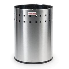 Корзина металлическая для мусора ЛАЙМА «Bionic», 7 л, матовая, перфорированная, несгораемая