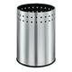 Корзина металлическая для мусора ЛАЙМА «Bionic», 12 л, матовая, перфорированная, несгораемая