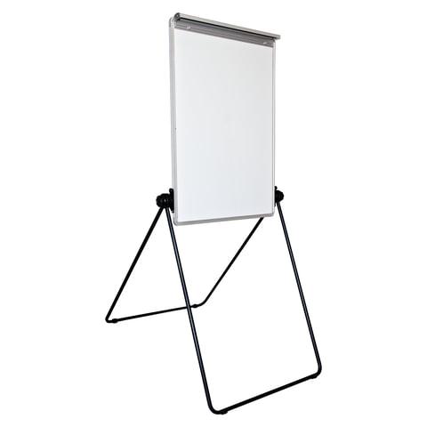 Доска-флипчарт BRAUBERG (БРАУБЕРГ) магнитно-маркерная, 70×100 см, двусторонняя, съемный зажим для блокнота, ГАРАНТИЯ 10 ЛЕТ