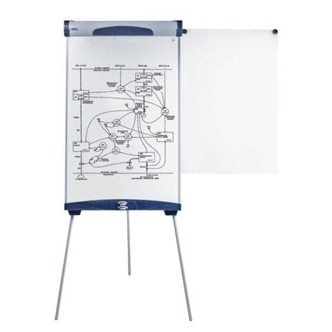 Доска-флипчарт BRAUBERG (БРАУБЕРГ) магнитно-маркерная, 70×100 см, с боковыми держателями для бумаги, ГАРАНТИЯ 10 ЛЕТ