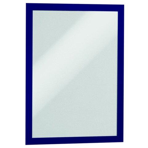Рамки для рекламы и объявлений DURABLE (Германия), комплект 2 шт., DURAFRAME, настенные, магнитные, A4, самоклеящиеся, синие