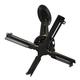 Кронштейн для проекторов потолочный WIZE PRO PR-24A, 3 степени свободы, высота 46-61 см, 23 кг, черный