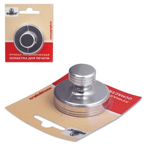 Оснастка ручная для печати D=40 мм, «Астероид», с клеевым слоем, корпус металлический, «серебро»
