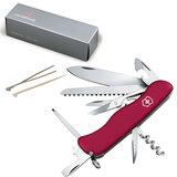 Подарочный нож VICTORINOX «Outrider», 111 мм, складной, с фиксирующимся лезвием, красный, 14 функций
