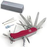 Подарочный нож VICTORINOX «Work champ», 111 мм, складной, с фиксирующимся лезвием, красный, 21 функция