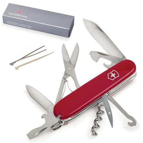 """Подарочный нож VICTORINOX """"Climber"""", 91 мм, складной, красный, 14 функций"""