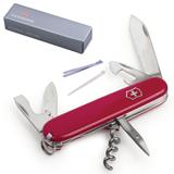 Подарочный нож VICTORINOX «Spartan», 91 мм, складной, красный, 12 функций