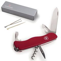 Подарочный нож VICTORINOX «Picknicker», 111 мм, складной, с фиксирующимся лезвием, красный, 11 функций