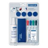 Набор для магнитно-маркерной доски STAEDTLER (ШТЕДЛЕР, Германия) «Lumocolor», 4 маркера+стиратель+чистящее средство+4 магнита