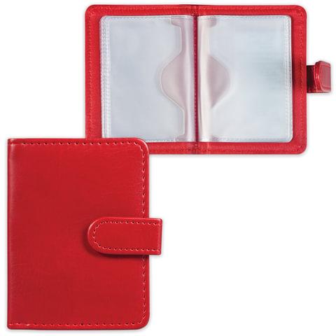 Визитница/<wbr/>кредитница однорядная GALANT «Ritter», под гладкую кожу, на 24 карты, магнитная застежка, бордовая