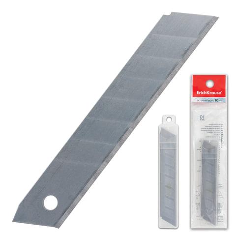 Лезвия для ножей 18 мм ERICH KRAUSE, комплект 10 шт., толщина лезвия 0,5 мм, в пластиковом пенале