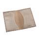 Обложка для паспорта BEFLER «Кайман», натуральная кожа, тиснение «крокодил», бежевая