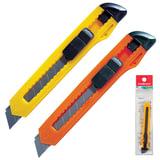 Нож универсальный 9 мм ERICH KRAUSE «Standard», автофиксатор, цвет корпуса ассорти, подвес