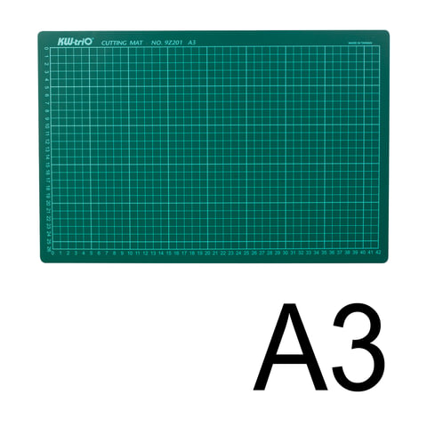 Коврик-подкладка настольный для резки KW-trio, А3 (450х300 мм), толщина 3 мм, сантиметровая шкала