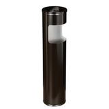 Урна металлическая с пепельницей, 600×150 мм, 10 литров, черная
