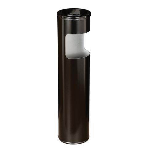 Урна металлическая с пепельницей, 600х150 мм, 10 литров, черная