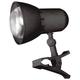 Светильник настольный «НАДЕЖДА-1 МИНИ» на прищепке, лампа накаливания с зеркальным отражающим слоем, 40 Вт, черный, Е27