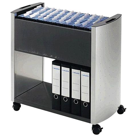 Тележка для подвесных папок DURABLE, на 80 папок А4, цвет серебристый/<wbr/>угольный